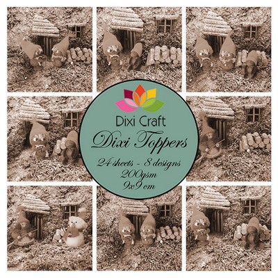 Dixi Craft - Paperpack - Christmas Gnomes: sepia - ET0308