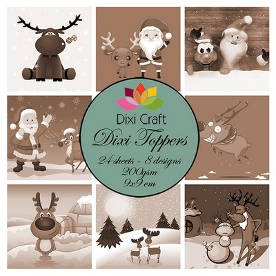 Dixi Craft - Paperpack - Funny Reindeer: sepia - ET0314