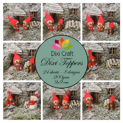 Dixi Craft - Paperpack - Christmas Gnomes: colour - ET0307