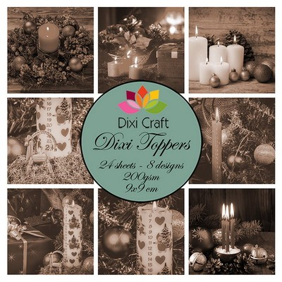 Dixi Craft - Paperpack - Christmas Candles: sepia - ET0310