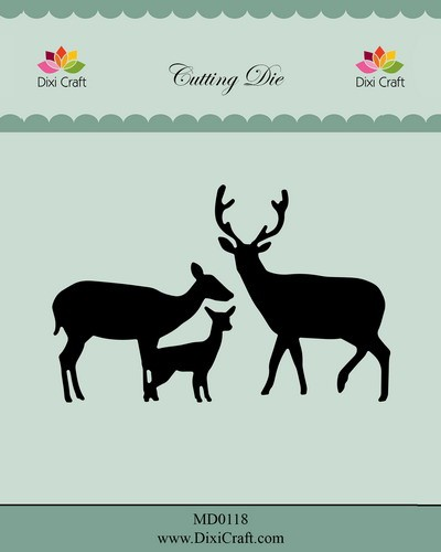 Dixi Craft - Die - Deer family - MD0118