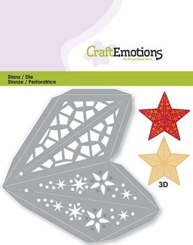CraftEmotions - Die - Christmas Decoration Star 3D - 115633/0204