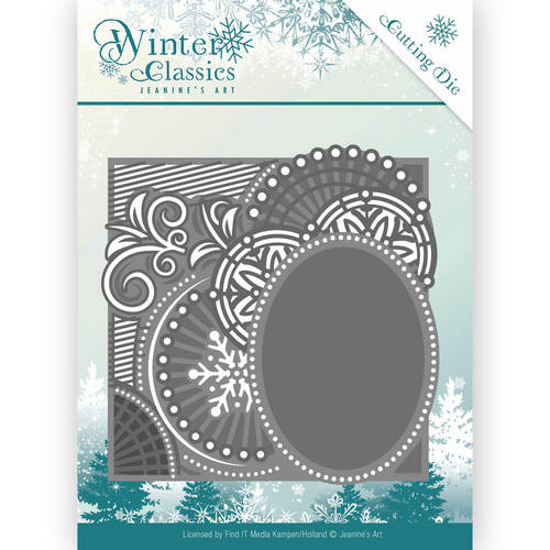 Card Deco - Jeanine`s Art - Die - Winter Classics - Curly Frame - JAD10016