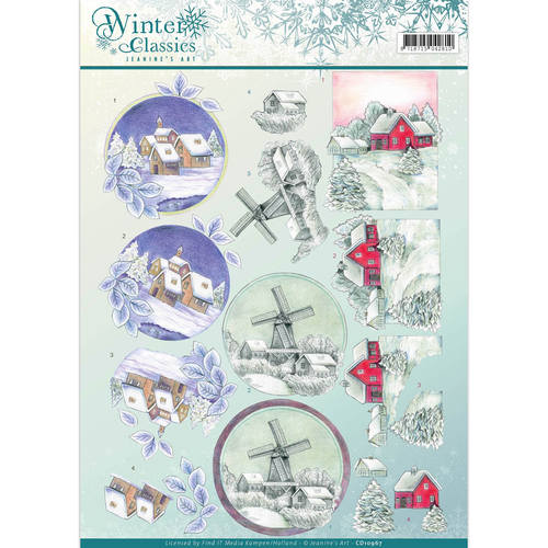 Jeanine`s Art - 3D-knipvel A4 - Winter Classics - Christmas Landscapes - CD10967