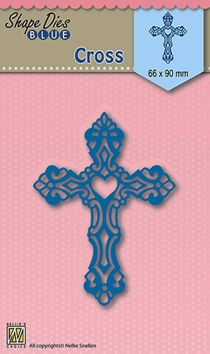 Nellie Snellen - Shape Die - Blue - Cross - SDB005