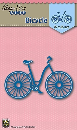 Nellie Snellen - Die - Shape Die - Blue - Bicycle - SDB004