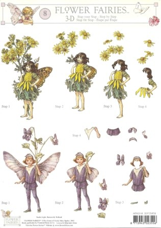 Studio Light - 3D-knipvel A4 - Flower Fairies - 3DFFSTAP08
