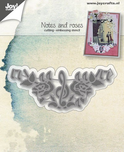 Joy! crafts - Die - Notes & roses - 6002/0201