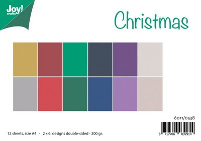 Joy! crafts - Paperset - Matching colours Uni - Christmas - 6011/0538