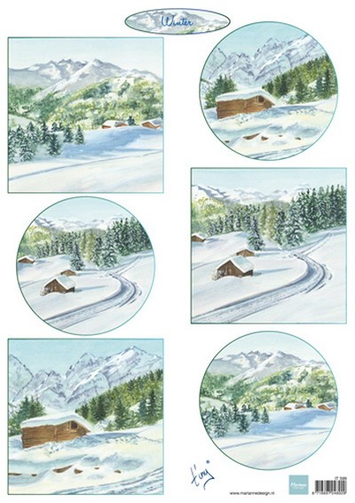 Marianne Design - Tiny`s - 3D-knipvel A4 - Tiny`s Winterlandschapjes 1 - IT599