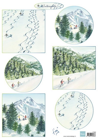 Marianne Design - Tiny`s - 3D-knipvel A4 - Tiny`s Winterlandschapjes 2 - IT600