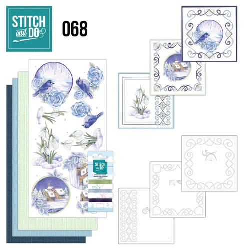 Card Deco - Kaartenpakket - Stitch & Do No. 68 - Winter Classics - STDO068