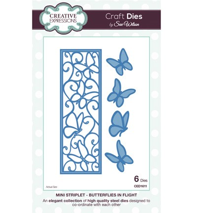 Creative Expressions - Die - The Striplets Collection - Butterflies in flight - CED1611