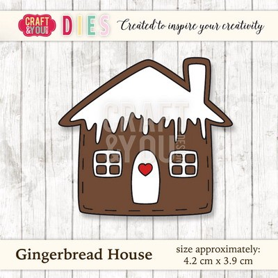 Craft & You Design - Die - Gingerbread house - CW025