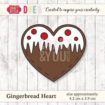 Craft & You Design - Die - Gingerbread heart - CW024