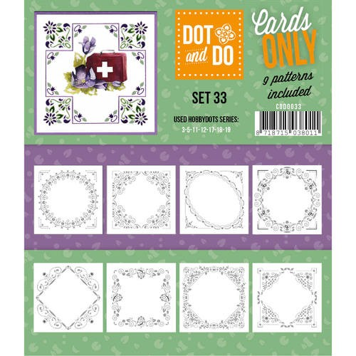 Card Deco - Oplegkaarten - Dot & Do - Cards Only - Set 33 - CODO033