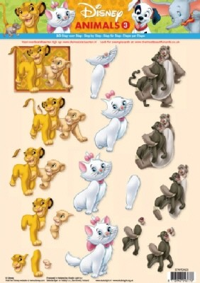 Studio Light - 3D-knipvel A4 - Disney Animals - STAPDA03