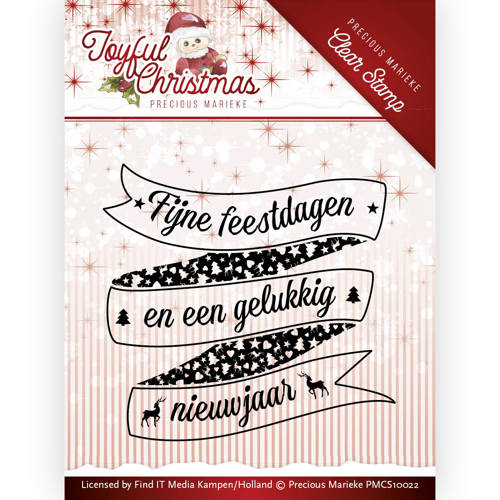 Precious Marieke - Clearstamp - Joyful Christmas - PMCS10022