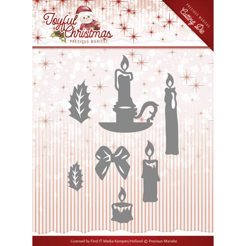 Precious Marieke - Die - Joyful Christmas - Christmas Candles - PM10105