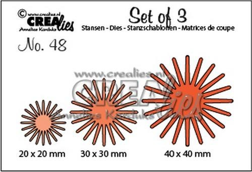 Crealies - Die - Set of 3 - Flowers - No. 48 - CLSet48