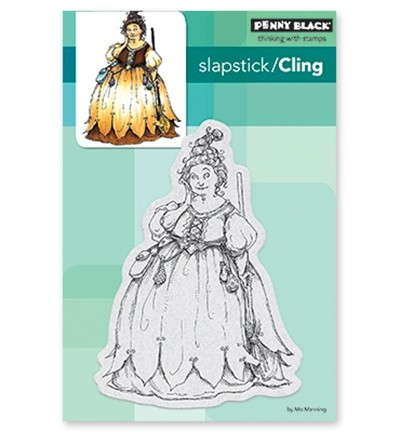 Penny Black - Cling Stamp - Chubby Witch - 40-555