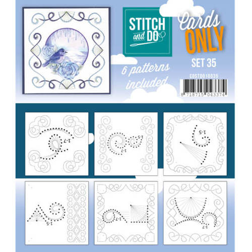 Card Deco - Stitch & Do - Oplegkaarten - Cards only - Set 35 - COSTDO10035