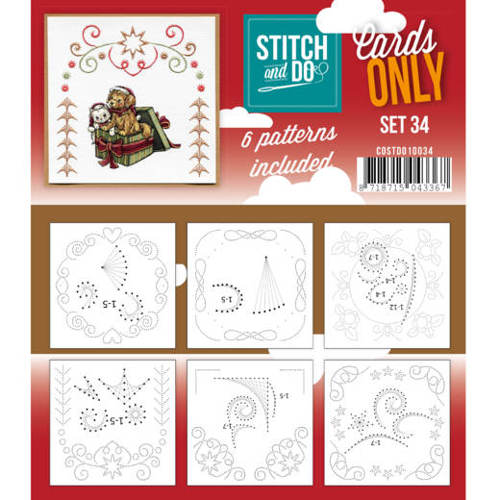Card Deco - Stitch & Do - Oplegkaarten - Cards only - Set 34 - COSTDO10034