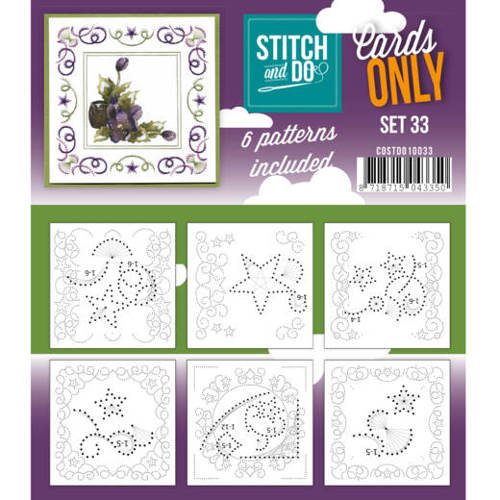 Card Deco - Stitch & Do - Oplegkaarten - Cards only - Set 33 - COSTDO10033