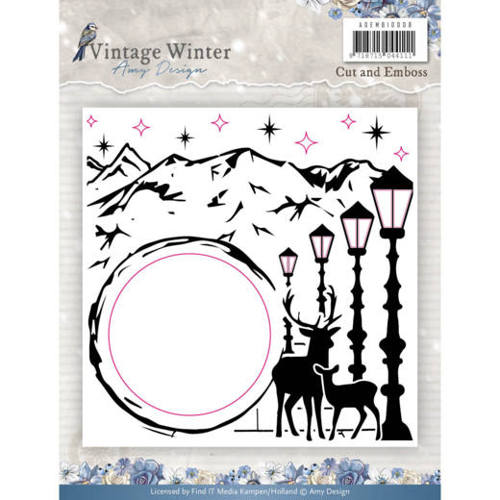 Amy Design - Embossingfolder - Vintage Winter - ADEMB10008