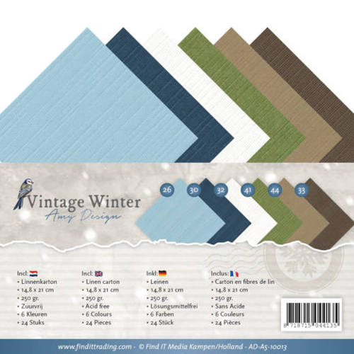 Amy Design - Linnenpakket - 148 x 210mm (A5) - Vintage Winter - AD-A5-10013