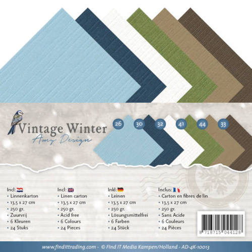 Amy Design - Linnenpakket 135 x 270mm - Vintage Winter - AD-4K-10013