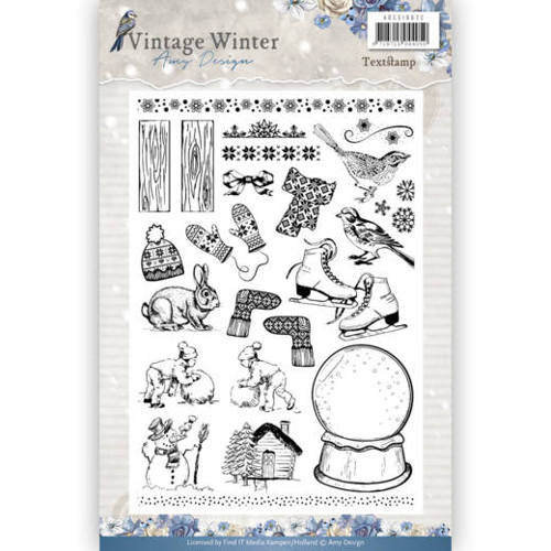 Amy Design - Clearstamp - Vintage Winter - ADCS10021