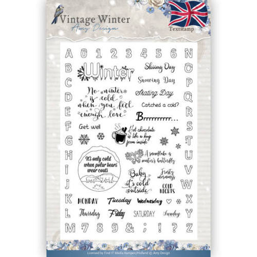 Amy Design - Clearstamp - Vintage Winter - English - ADCS10023