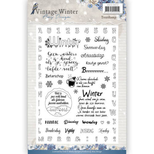Amy Design - Clearstamp - Vintage Winter NL - ADCS10022