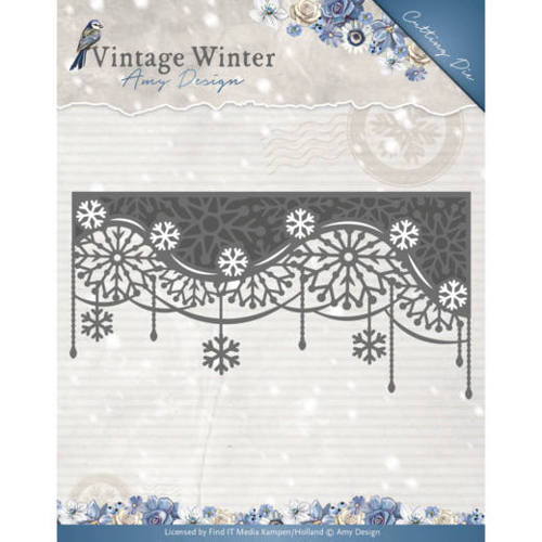 Amy Design - Die - Vintage Winter - Snowflake Swirl Edge - ADD10125