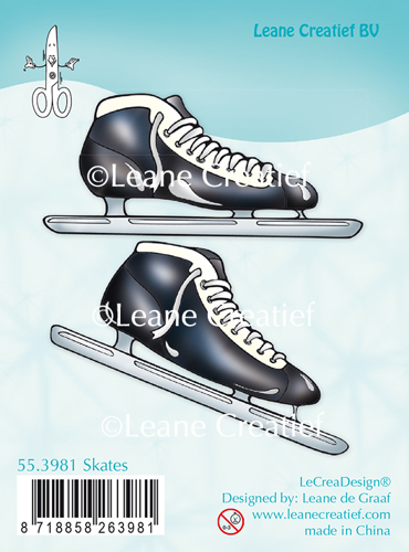 Leane Creatief - Clearstamp - Skates - 55.3981