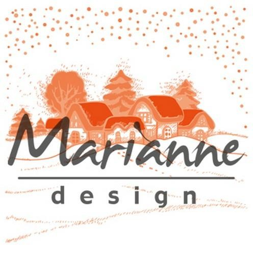 Marianne Design - Design Folder - Extra Wintervillage - DF3442