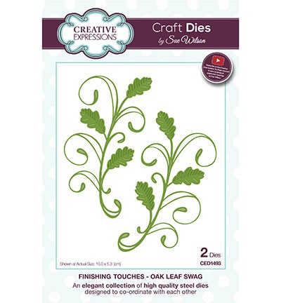 Creative Expressions - Die - The Finishing Touches Collection - Oak Leaf Swag - CED1493