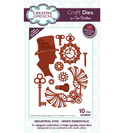 Creative Expressions - Die - The Industrial Chic Collection - Mixed Essentials - CED25001
