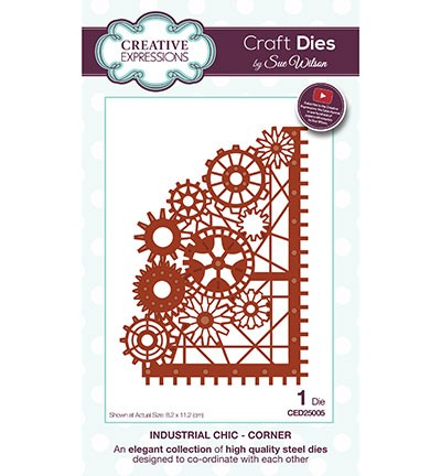 Creative Expressions - Die - The Industrial Chic Collection -  Corner - CED25005