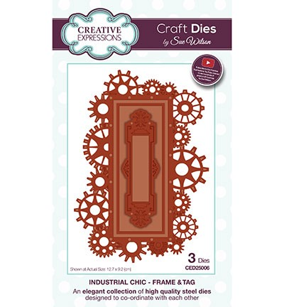 Creative Expressions - Die - The Industrial Chic Collection - Frame & Tag - CED25006