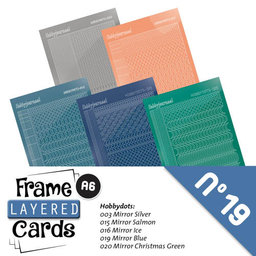 Hobbyjournaal - Stickerset - Frame Layered Cards - No. 19 - LCST019