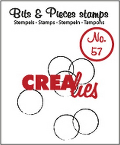 Crealies - Clearstamp - Bits & Pieces - Grunge circles  - CLBP57