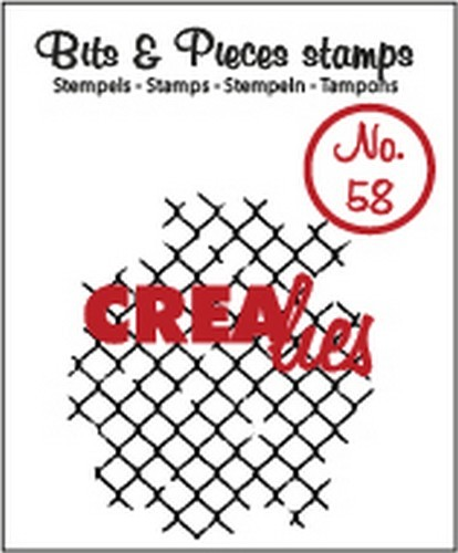 Crealies - Clearstamp - Bits & Pieces - No. 58 - Thin mesh  - CLBP58