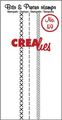 Crealies - Clearstamp - Bits & Pieces - No. 59 - Stitch A  - CLBP59