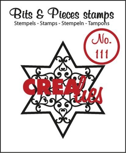 Crealies - Clearstamp - Bits & Pieces - No. 111 - Ster B - CLBP111