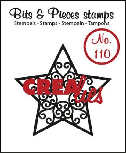 Crealies - Clearstamp - Bits & Pieces - No. 110 - Ster A - CLBP110
