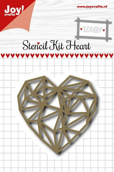 Joy! crafts - Noor! Design - Die - Stencil Kit Heart - 6002/0991