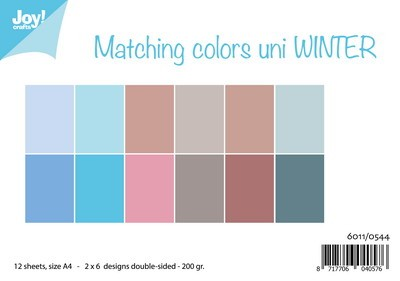 Joy! crafts - Paperset - Uni - Winter - 6011/0544