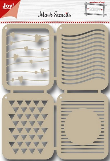 Joy! crafts - Noor! Design - Maskingstencil - Stripes - 6002/0841